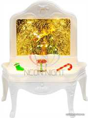 Декоративный светильник Столик с эффектом снегопада,  подсветкой и ново